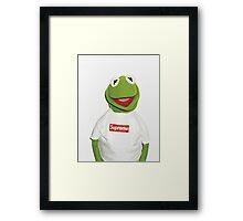 Kermit Supreme / Supreme Logo ( Kermit ) Framed Print