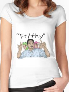 Filthy Frank Filthy Women's Fitted Scoop T-Shirt