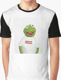 Kermit Supreme / Supreme Logo ( Kermit ) Graphic T-Shirt