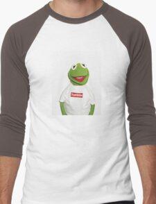 Kermit Supreme / Supreme Logo ( Kermit ) Men's Baseball ¾ T-Shirt