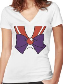 Sailor Moon - Sailor Mars Women's Fitted V-Neck T-Shirt