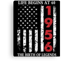 1956 The Birth Of Legends American Flag T-Shirts & Hoodies Canvas Print