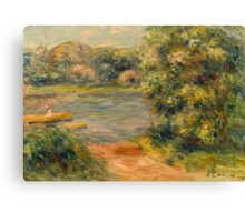 The Boat on the Lake Canvas Print