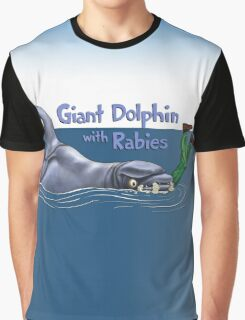 Giant Dolphin With Rabies Graphic T-Shirt