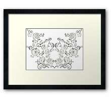 Mirror Swirls Framed Print