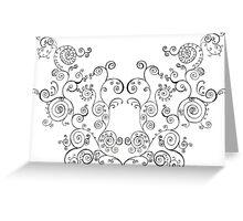 Mirror Swirls Greeting Card