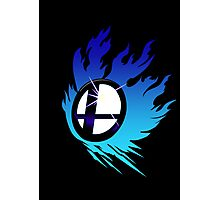 Smash Bros Emblem Blue Photographic Print