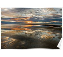 relection at sunset Poster