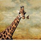 Giraffe and The Butterfly  by NewfieKeith
