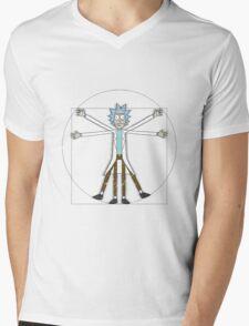 Vitruvian Rick Mens V-Neck T-Shirt