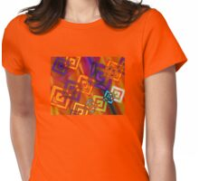 Linked - Abstract Womens Fitted T-Shirt