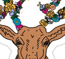 deer / stag with flower antlers Sticker