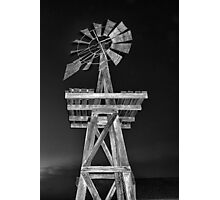 Eddy House Windmill BW Photographic Print