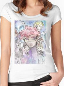 Galactic Embassy: Earth Division, promo style Women's Fitted Scoop T-Shirt
