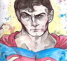 Superman Splatter by gorshatastic