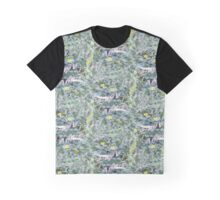 Muted Psychedelic Florals Seamless Pattern Graphic T-Shirt
