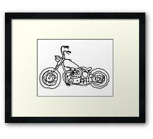 Triumph Chopper, Project 650, Bobber Framed Print