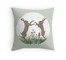 March Hares Throw Pillow