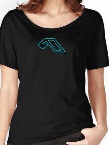 Anjunabeats black lightblue Women's Relaxed Fit T-Shirt