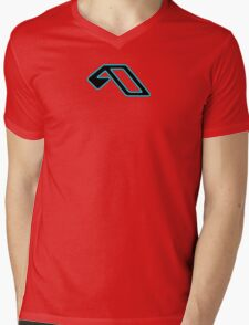 Anjunabeats black lightblue Mens V-Neck T-Shirt