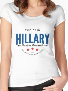 Deal Me In, Madam President Women's Fitted Scoop T-Shirt