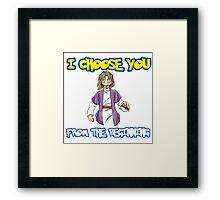 I choose you-Jesus  Framed Print