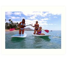 Stand up Paddle Boards Art Print