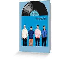 Weezer - Blue Album Greeting Card