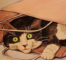 Cat in a Bag by JoAnn Glennie