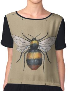 A painting of a bumblebee Chiffon Top