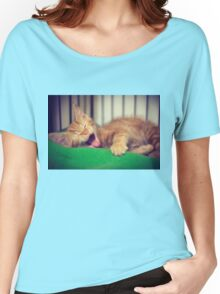 Sleepy Kitty Women's Relaxed Fit T-Shirt