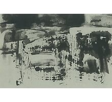 landscape before the rain (ink, paper) Photographic Print