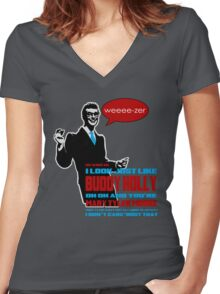 Weezer - Buddy Holly Women's Fitted V-Neck T-Shirt
