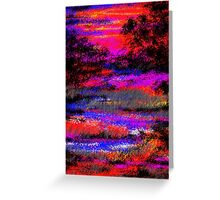 March Sunset Greeting Card