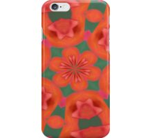 Succulent Red and Yellow Flower Abstract 2 iPhone Case/Skin
