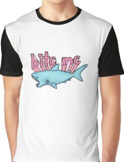 bite me shark Graphic T-Shirt