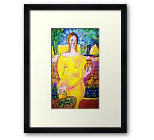 Lady with a pot Framed Print
