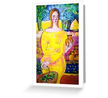 Lady with a pot Greeting Card
