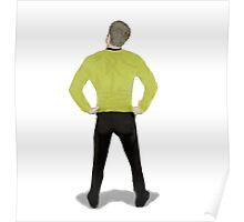 """""""Captain Booty"""" Kirk Star Trek Poster"""