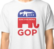 GOP - GUNS OVER PEOPLE Classic T-Shirt