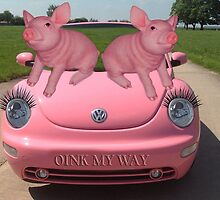 OINK MY WAY PIGS VW PICTURE/CARD by ╰⊰✿ℒᵒᶹᵉ Bonita✿⊱╮ Lalonde✿⊱╮
