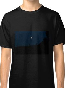 Silhouette of Kangaroos with Full Moon Classic T-Shirt
