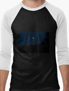 Silhouette of Kangaroos with Full Moon Men's Baseball ¾ T-Shirt