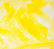 Abstract yellow painting by Lisa Kyle Young
