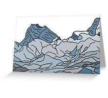 blue mountains landscape Greeting Card