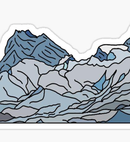blue mountains landscape Sticker