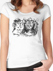 Baby Cats in the Garden Women's Fitted Scoop T-Shirt