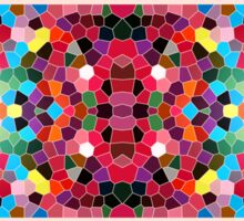 Abstract Stained Glass Vivid Rainbow Candy Mosaic Sticker