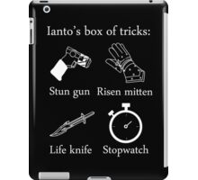 Ianto's box of tricks (white) iPad Case/Skin