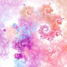 Cotton Candy - Abstract Fractal Artwork by EliVokounova